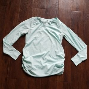 FINAL Old Navy maternity activewear mint top, M